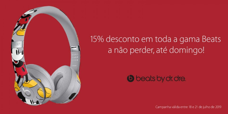 Desconto de 15% em Beats