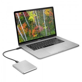 LaCie Mobile Drive 2TB USB-C - Prateado