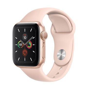 Apple Watch 5, 40 mm - Dourado com bracelete desportiva