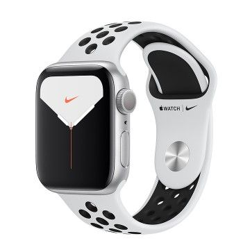 Apple Watch Nike 5, 40 mm- Prateado com bracelete desportiva