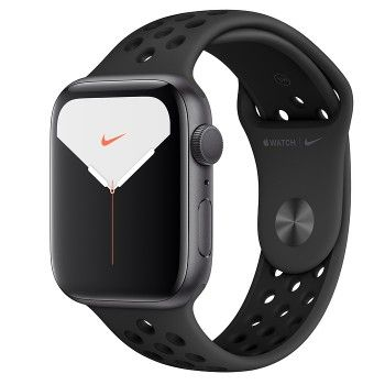 Apple Watch Nike 5, 44 mm- Cinzento Sideral com bracelete desportiva