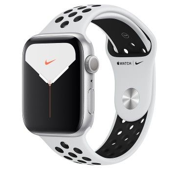 Apple Watch Nike 5, 44 mm- Prateado com bracelete desportiva