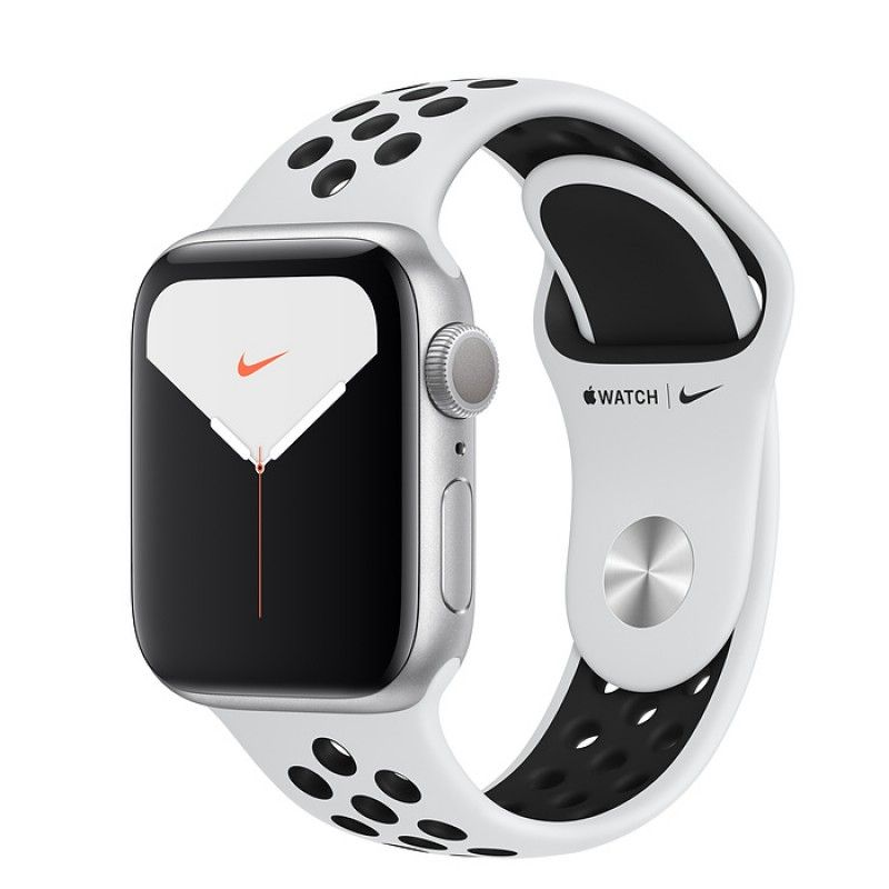 Apple Watch Nike 5, 40 mm- Prateado com bracelete desportiva