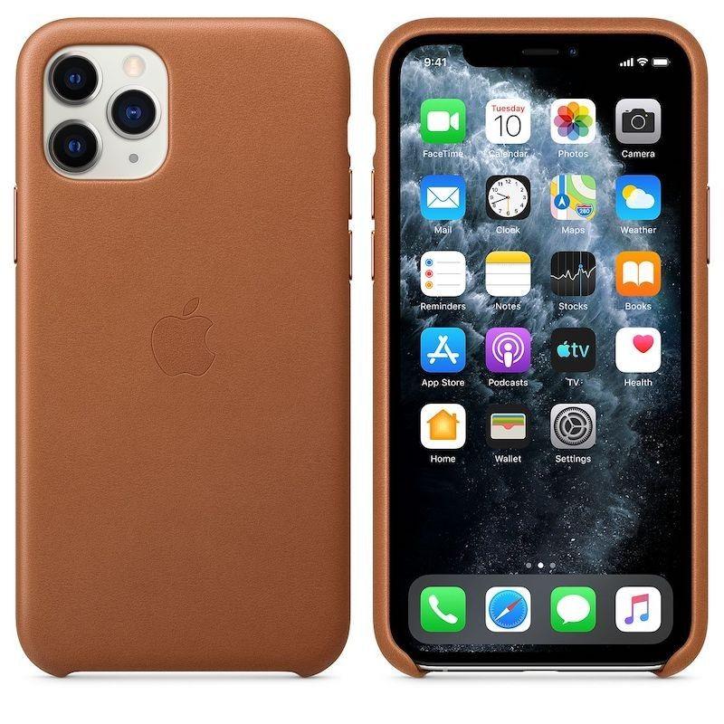 Capa para iPhone 11 Pro em pele - Castanho sela