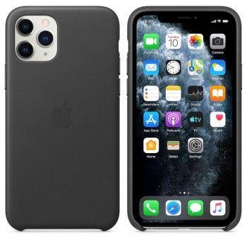 Capa para iPhone 11 Pro em pele - Preto