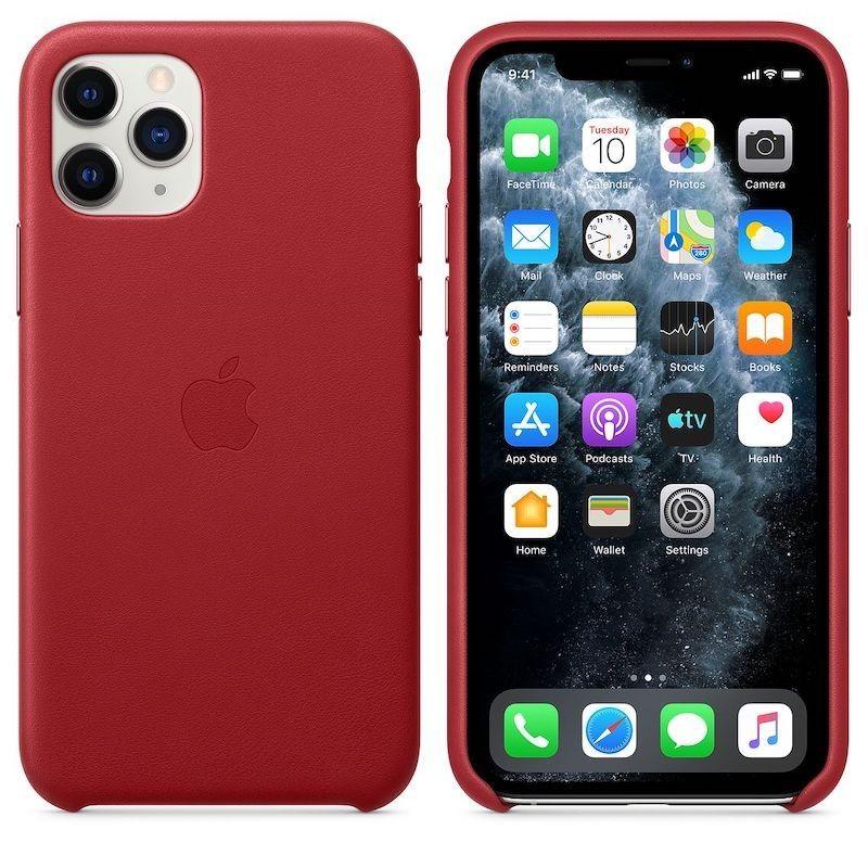 Capa para iPhone 11 Pro em pele - Vermelho (PRODUCT RED)