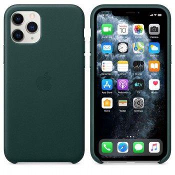 Capa para iPhone 11 Pro em pele - Verde floresta