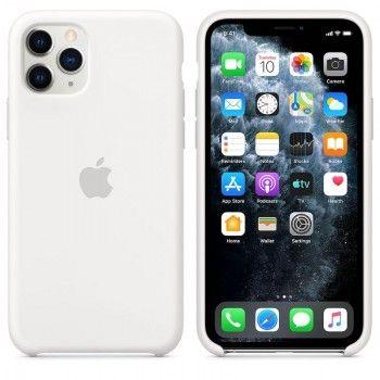 Capa para iPhone 11 Pro em silicone - Branco
