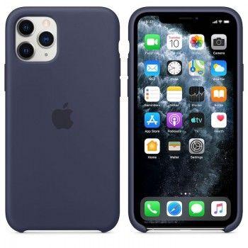 Capa para iPhone 11 Pro em silicone - Azul meia-noite