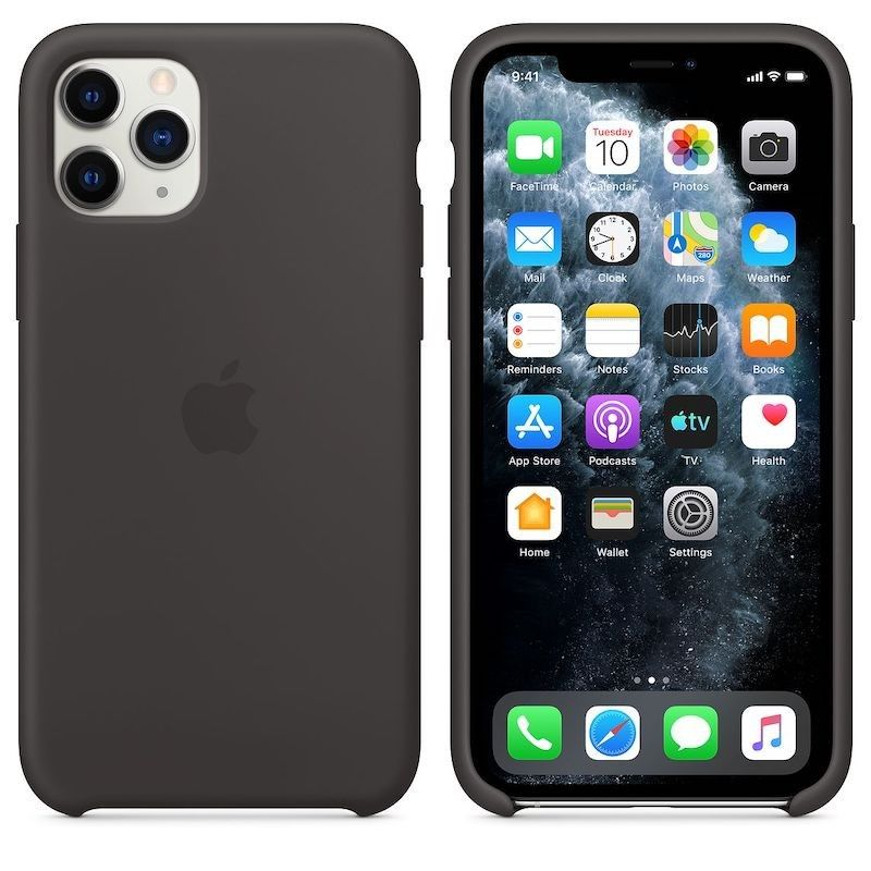 Capa para iPhone 11 Pro em silicone - Preto