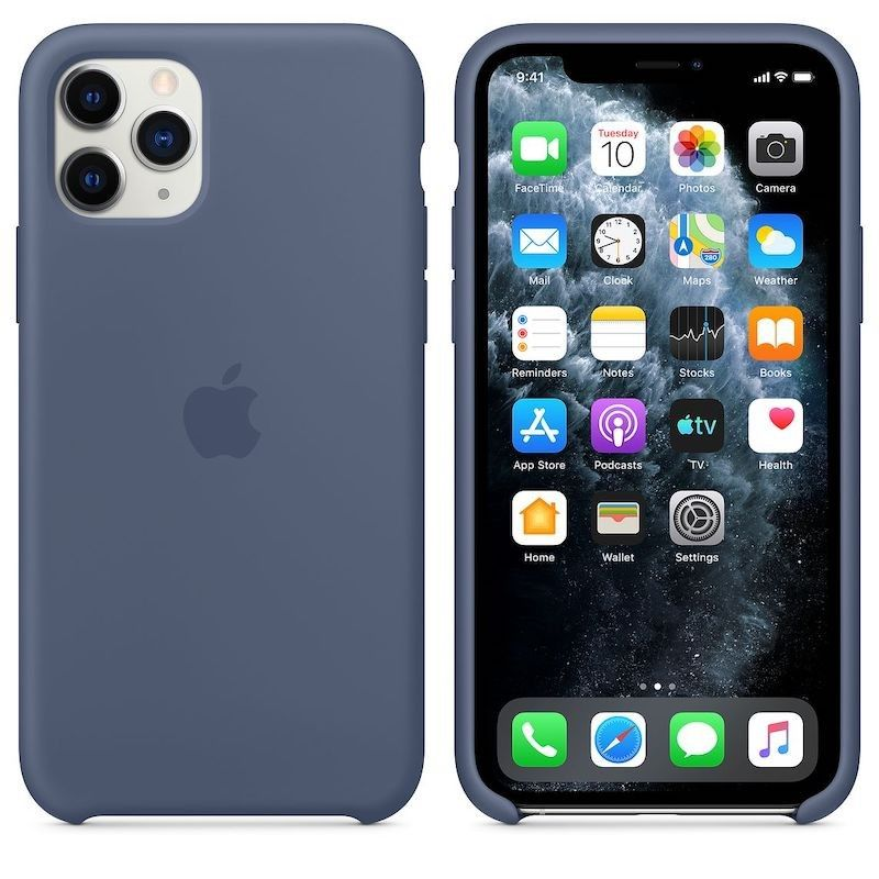 Capa para iPhone 11 Pro em silicone - Azul Alasca