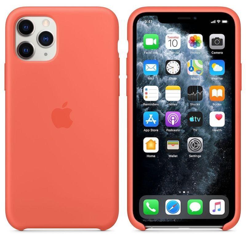 Capa para iPhone 11 Pro em silicone - Clementina (Laranja)