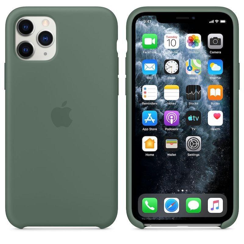 Capa para iPhone 11 Pro em silicone - Verde pinheiro