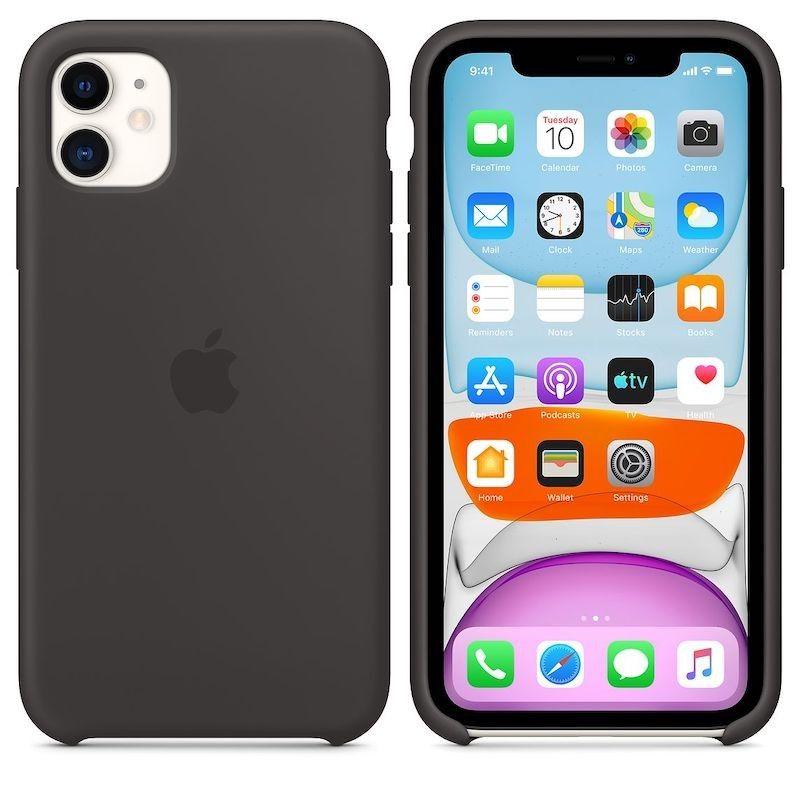 Capa para iPhone 11 em silicone - Preto