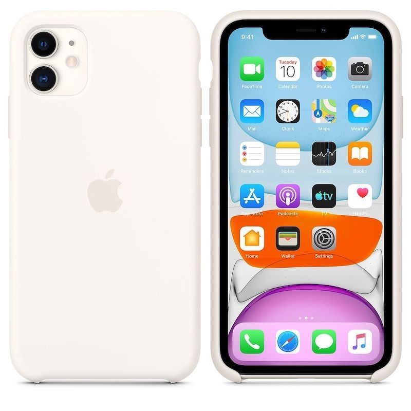 Capa para iPhone 11 em silicone - Branco