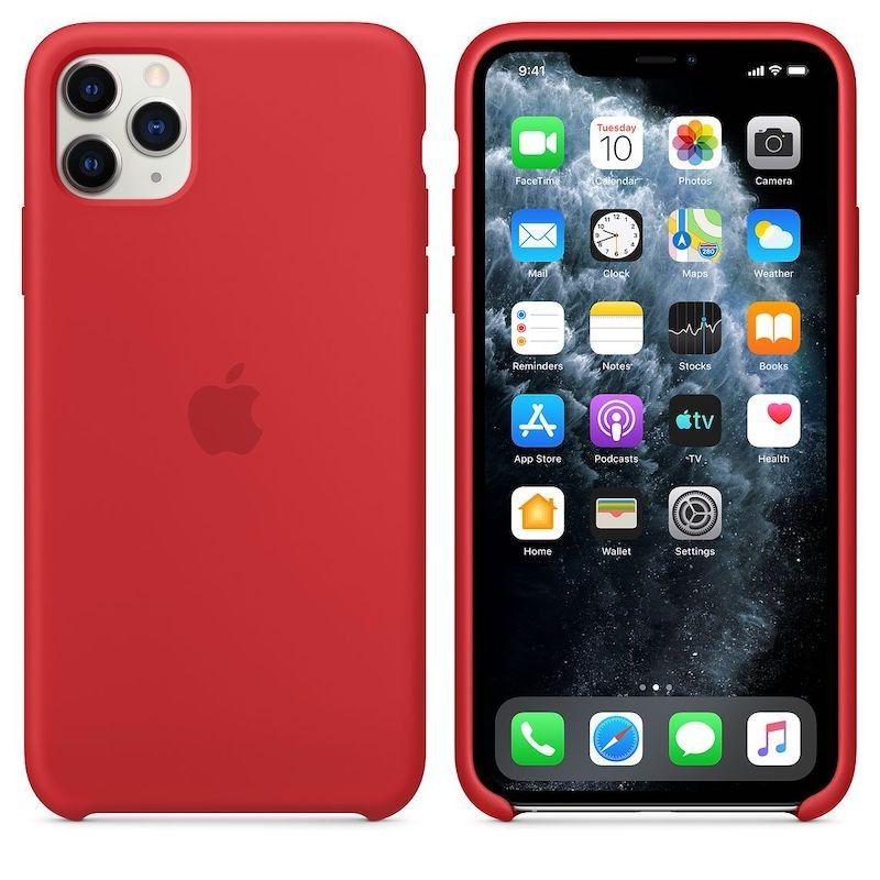 Capa para iPhone 11 Pro Max em silicone - Vermelho (PRODUCT RED)