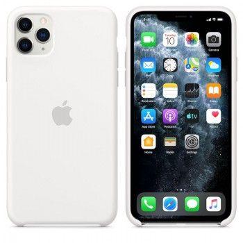 Capa para iPhone 11 Pro Max em silicone - Branco
