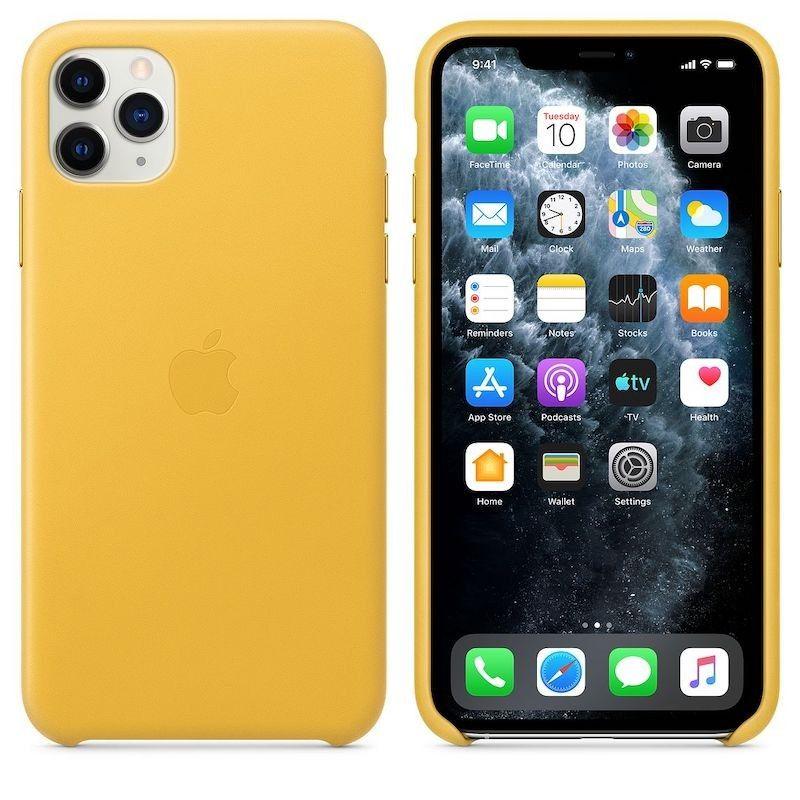 Capa em pele para iPhone 11 Pro Max - Limão Meyer