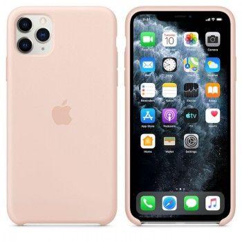 Capa para iPhone 11 Pro Max em silicone - Rosa-areia