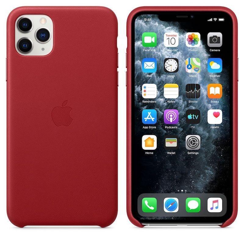 Capa em pele para iPhone 11 Pro Max - Vermelho (PRODUCT RED)