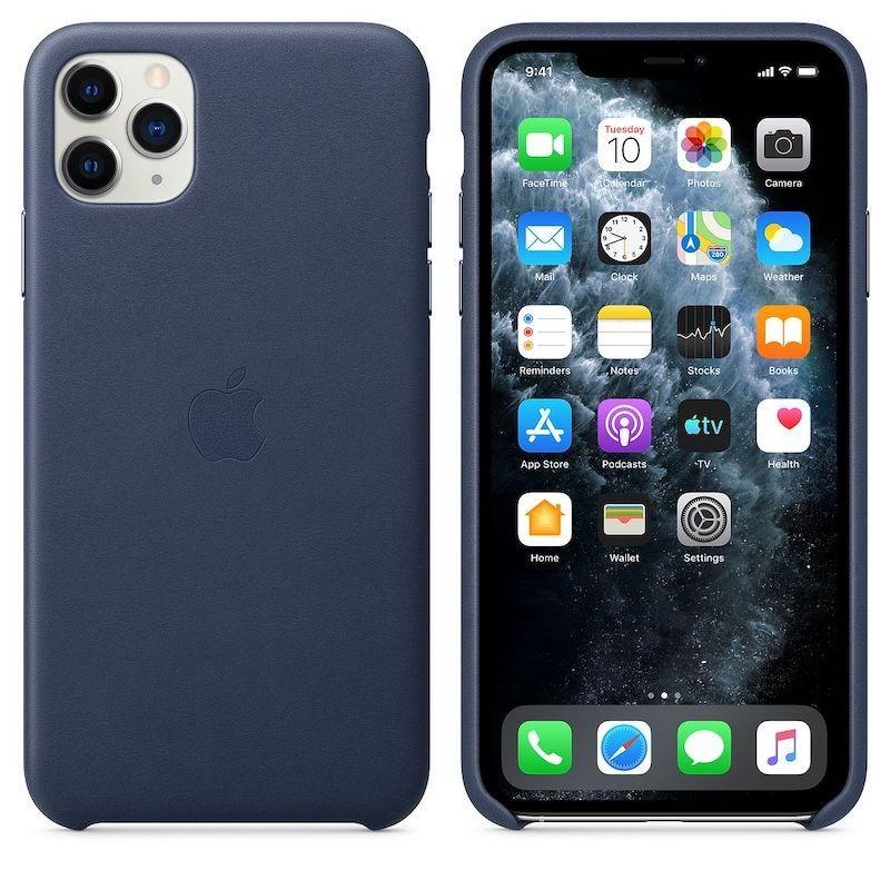 Capa em pele para iPhone 11 Pro Max - Azul meia-noite