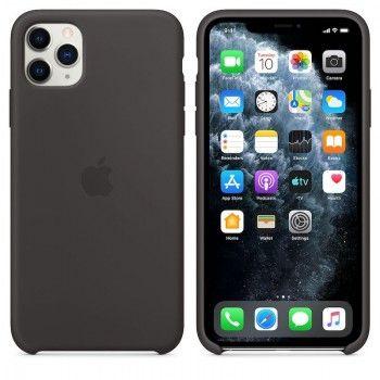 Capa para iPhone 11 Pro Max em silicone - Preto