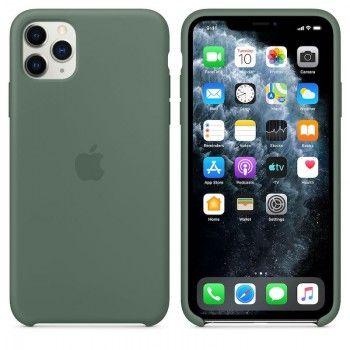 Capa para iPhone 11 Pro Max em silicone - Verde Pinheiro