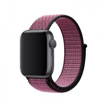 Bracelete desportiva Nike Loop para Apple Watch (40/38 mm) - Rosa explosivo roxo ideal