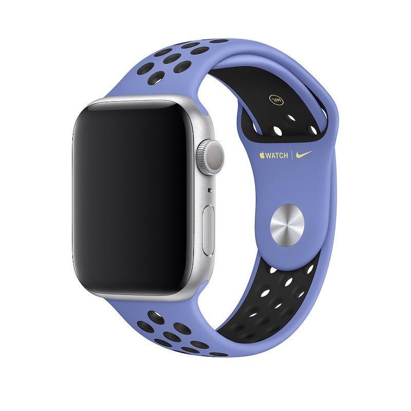 Bracelete desportiva Nike para Apple Watch (44/42 mm) S/M & M/L - Azul impulso / preto