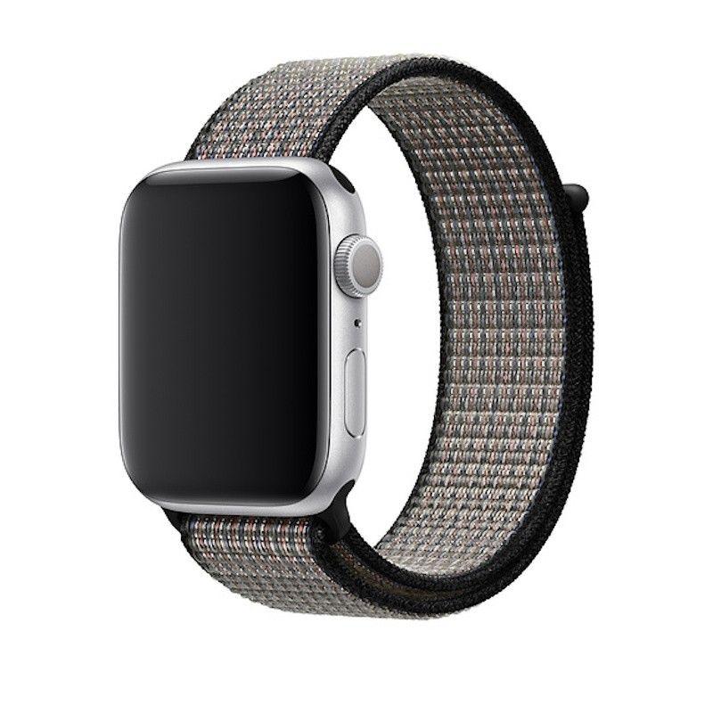 Bracelete desportiva Nike Loop para Apple Watch (44/42 mm) - Azul impulso / laranja lava
