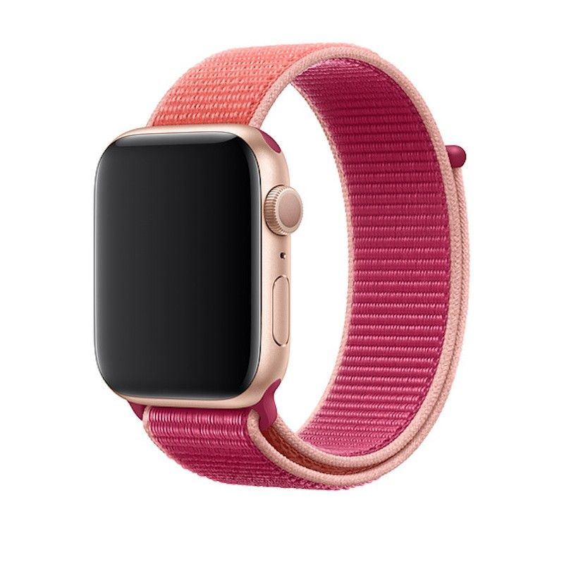 Bracelete Loop desportiva para Apple Watch (44/42 mm) - Romã