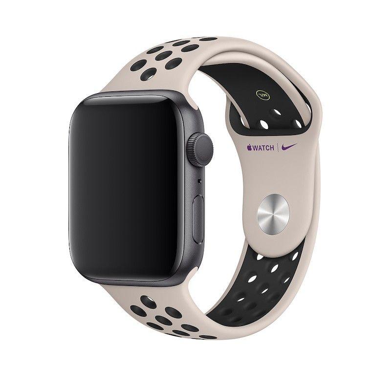 Bracelete desportiva Nike para Apple Watch (44/42 mm) S/M&M/L - Areia do deserto / preto