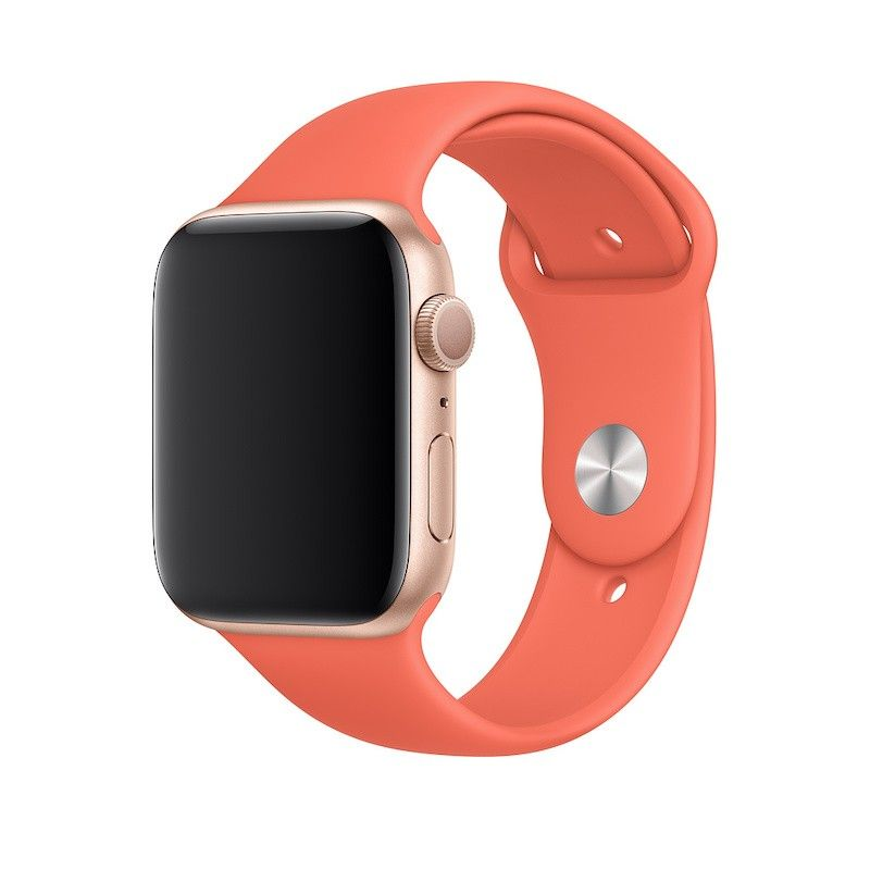Bracelete desportiva para Apple Watch (44/42 mm) S/M & M/L -  Clementina (laranja)