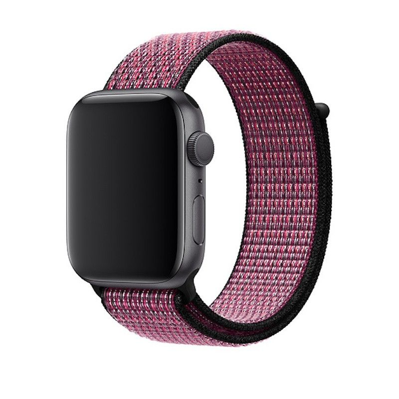 Bracelete desportiva Nike Loop para Apple Watch (44/42 mm) - Rosa explosivo roxo ideal