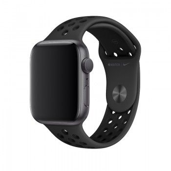 Bracelete desportiva Nike para Apple Watch (44/42 mm) S/M & M/L - Antracite Preto