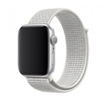 Bracelete desportiva Nike Loop para Apple Watch (44/42 mm) - Branco-cume