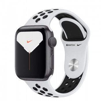Bracelete desportiva Nike para Apple Watch (40/38 mm) - Platina pura / preto