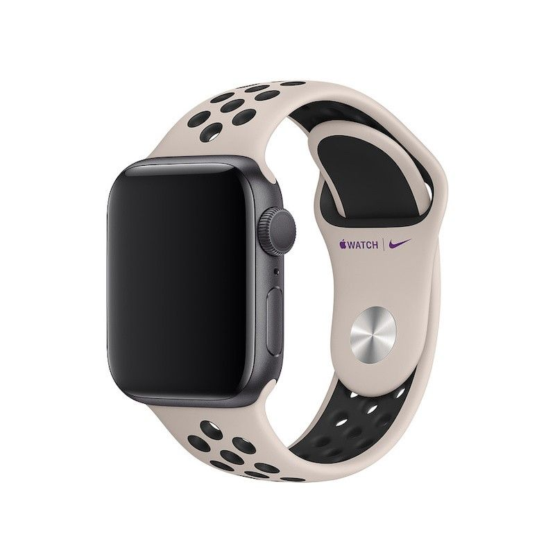 Bracelete desportiva Nike para Apple Watch (40/38 mm) S/M & M/L- Areia do deserto / preto