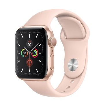 Apple Watch 5, 40 mm - Dourado com bracelete desportiva