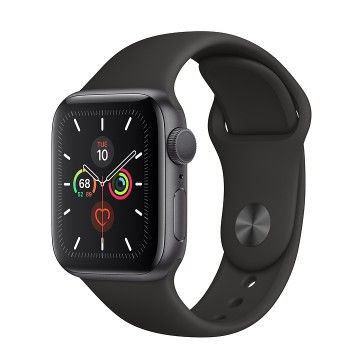 Apple Watch 5, 40 mm - Cinzento Sideral com bracelete desportiva