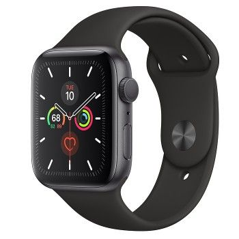 Apple Watch 5, 44 mm - Cinzento Sideral com bracelete desportiva