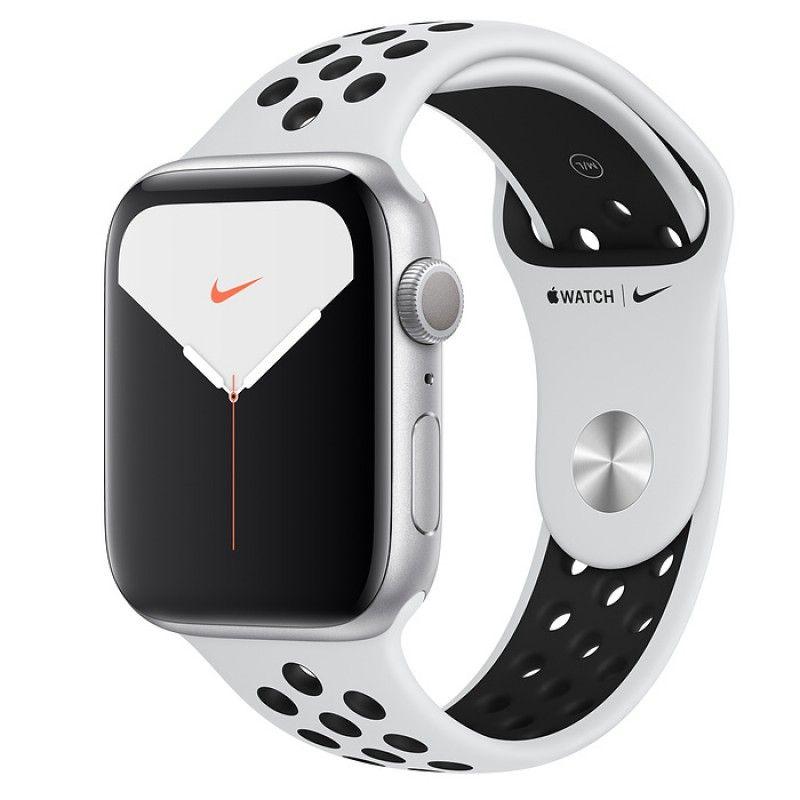 Apple Watch Nike 5, 44 mm- Prateado com bracelete desportiva