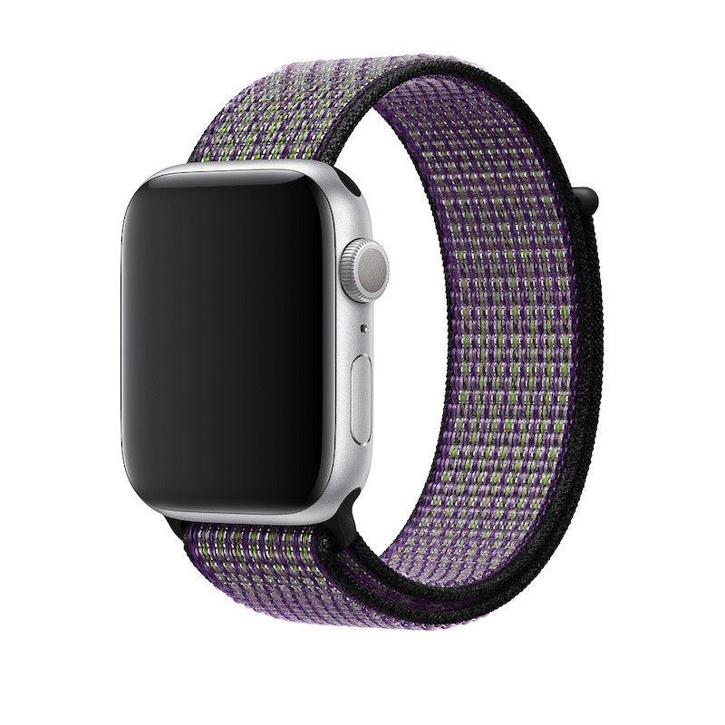 Bracelete desportiva Nike Loop para Apple Watch (44/42 mm) - Areia do deserto / volt