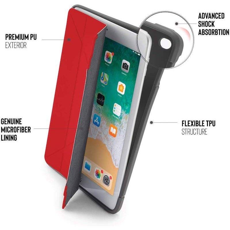 Capa Pipetto Origami Shield iPad 9,7 (2017/8/Air 1) - Vermelho