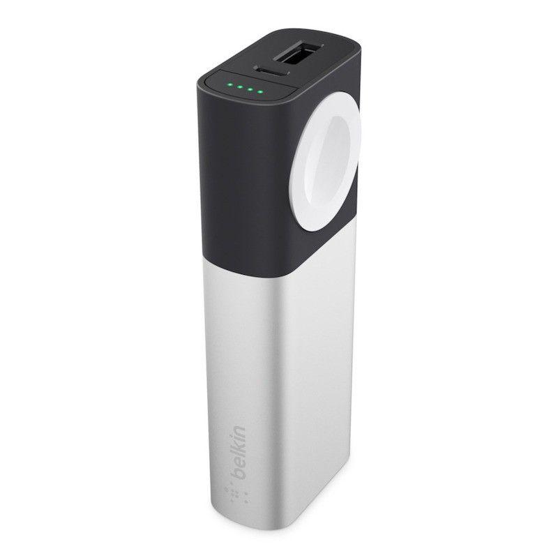 Powerbank 6700 mAh Micro USB/USB e Apple Watch - Prateado