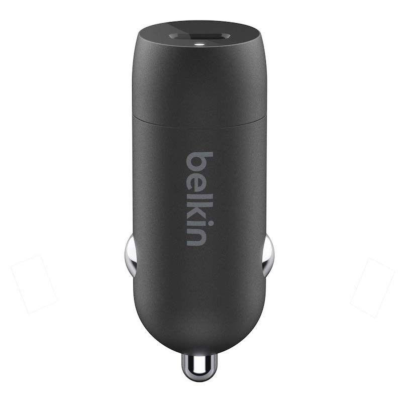 Carregador de isqueiro Belkin 18W & cabo USB-C/Lightning