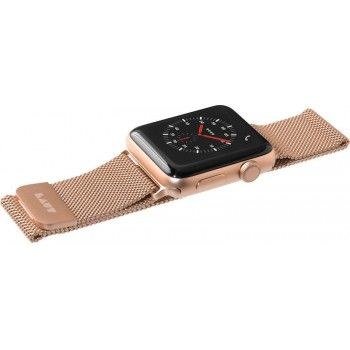 Bracelete para Apple Watch Laut Steel Loop, 44/42mm - Dourado