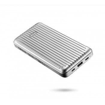 Powerbank 20100 mAh com porta USB-C - Prateado