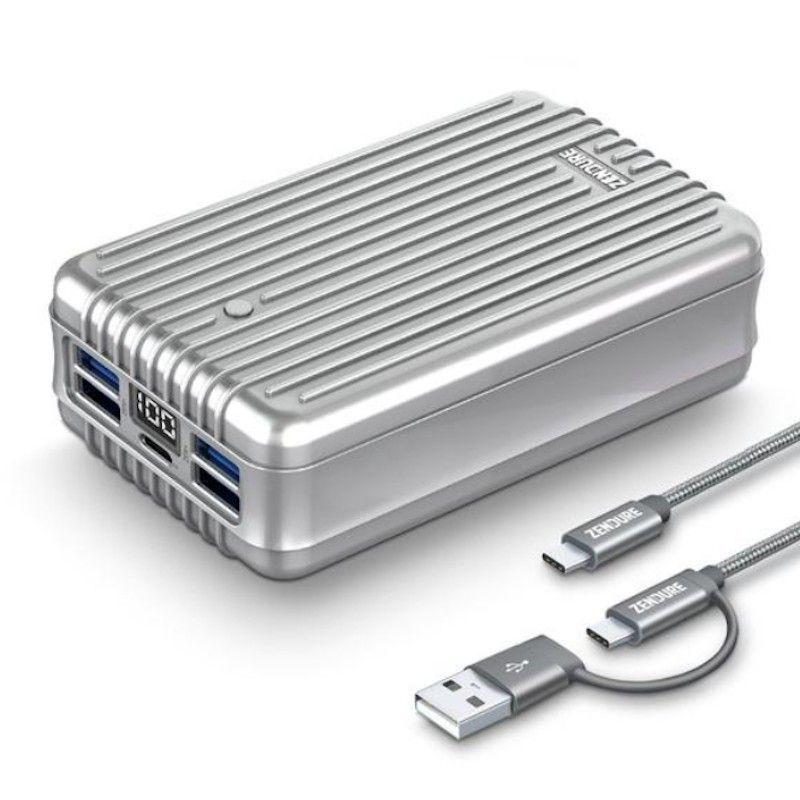 Zendure A8 PD Portable Charger 42W 26800 mAh - Prateado