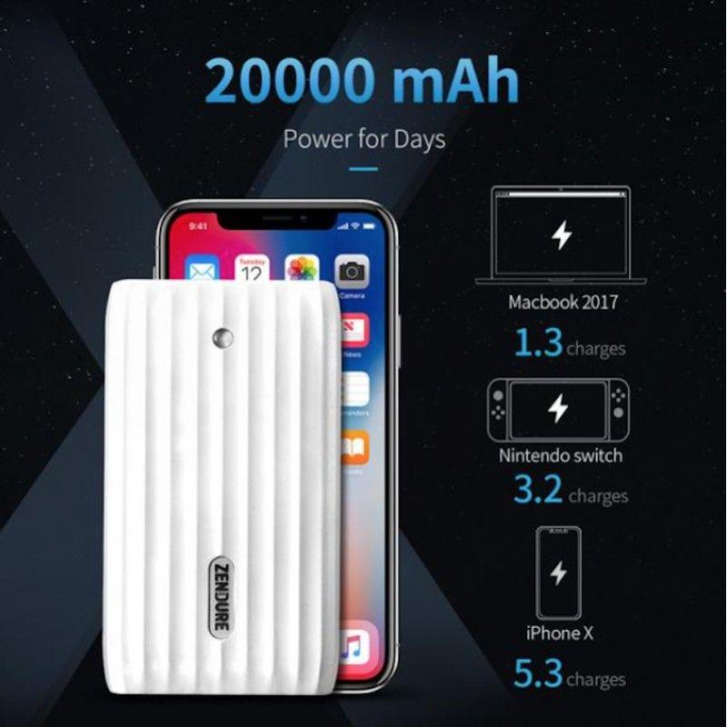 Powerbank HUB 45W 20.100 mAh - Branco